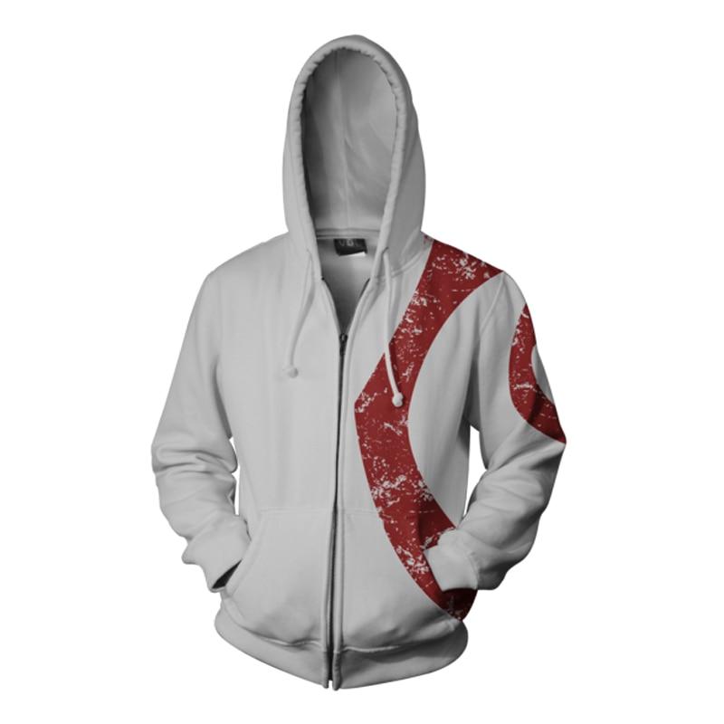 God of War Ghost of Sparta Hoodie Kratos Men's Casual Hoodies Sweatshirts 3D Print Hooded Zipper Coat Thin Tops