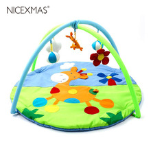 NICEXMAS Baby Game Mat Crawling Rug Games Carpet Baby Soft Toy Play Frame (Sika Deer, Random Color of Pendant) 2019 New