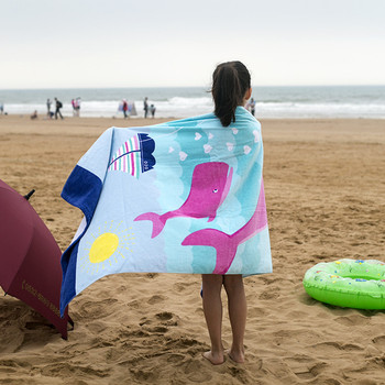 1PC 160X80cm European style 100% cotton towel no formaldehyde fast dry children large size adult cartoon beach towel CR-T5  4