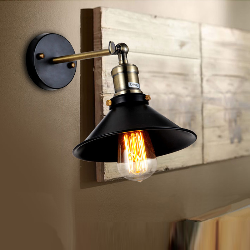 Ancient wall lights E27 American vintage bedside lamp wall lamps for home lighting inside diameter m american vintage wall lamp indoor lighting bedside lamps wall lights for home stair lamp