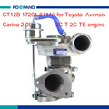 Engine part CT12B 17201-64110 Turbo charger kit for Toyota Avensis T22 Carina T19 2.0L 2C engine 1720164110