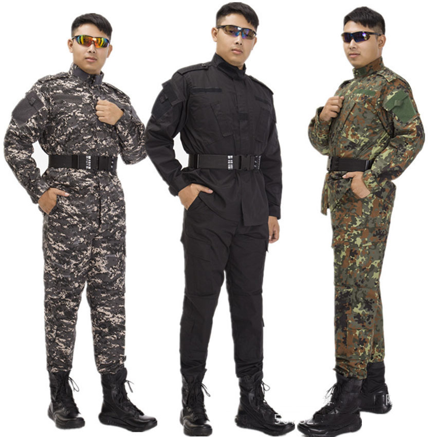2PCs Multicam 3D Print Special Air Forces Military Uniform Men Tactical Combat Jacket+trousers ACU CS Game Army Suit