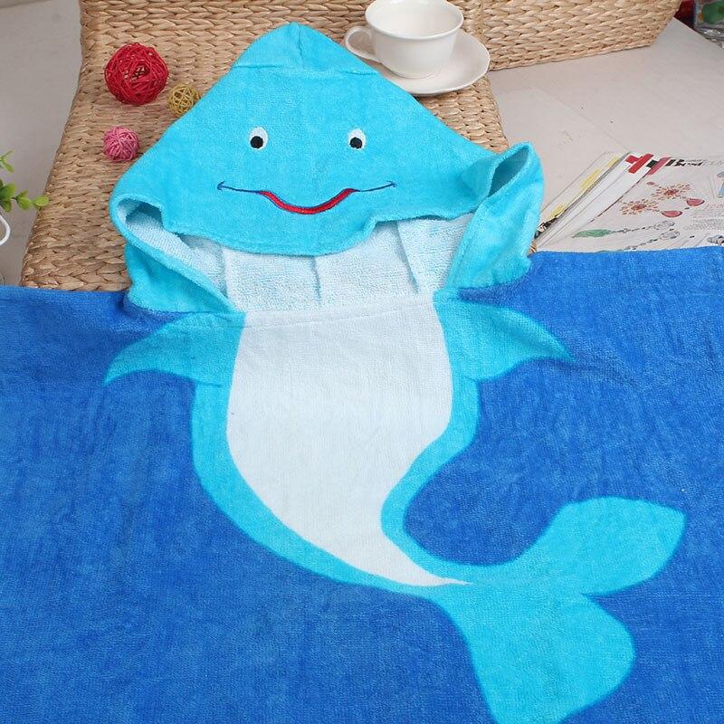 Comfortable Newborn Infant Cartoon Towel Baby Cotton Hood Bathrobe Outdoor Swimming Beach Bath Shower Blanket for Kids Children