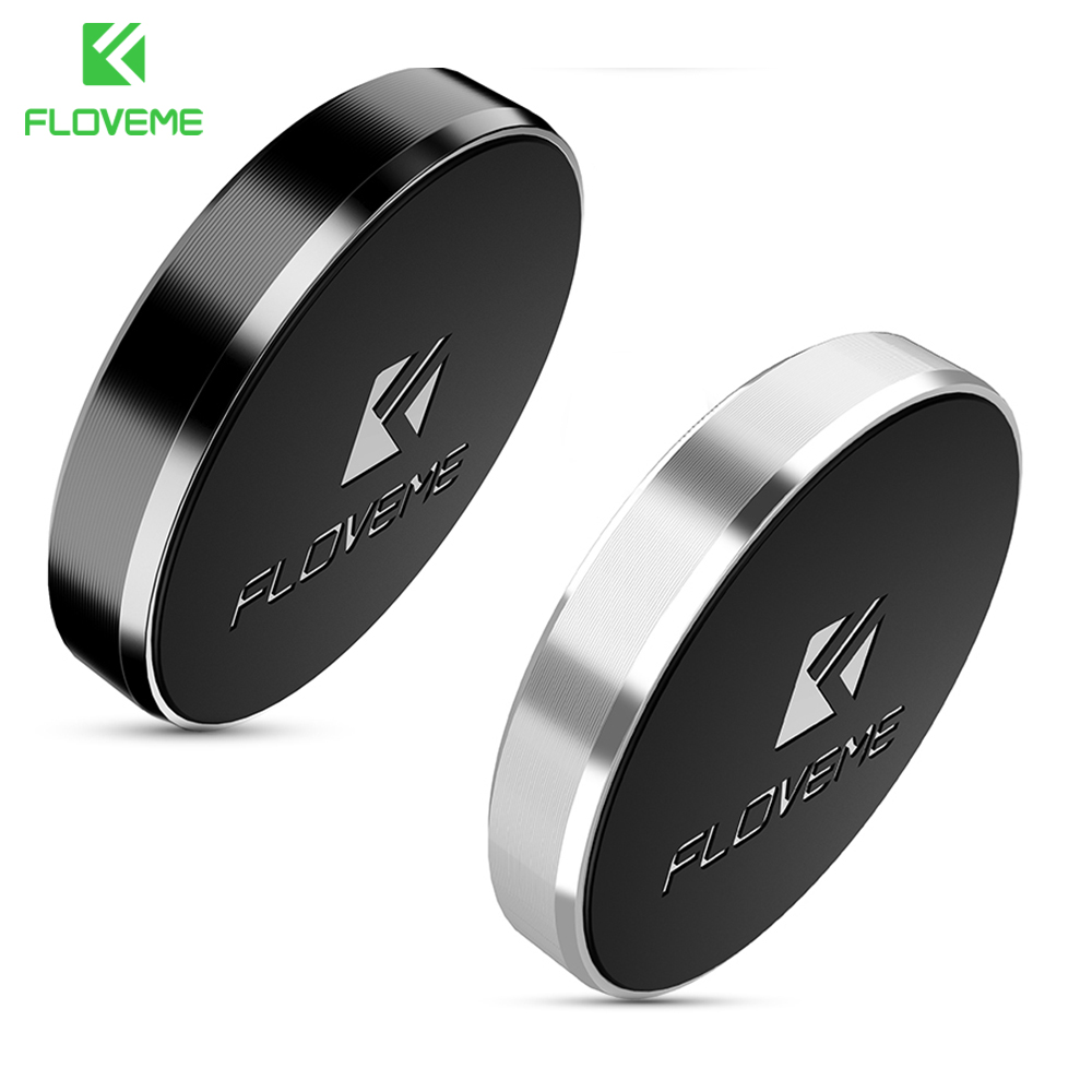 FLOVEME 2pcs/lot,Universal Strong Magnetic Car Phone Holder Flat Stick For IPhone X 7 Samsung Xiaomi Mini Magnet Dashboard Stand