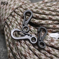 JINSE JINSE 4PCS DIY High Quality Durable Black Stainless Steel Keychain Black Buckle Carabiner Clip Split Ring Spring Clip
