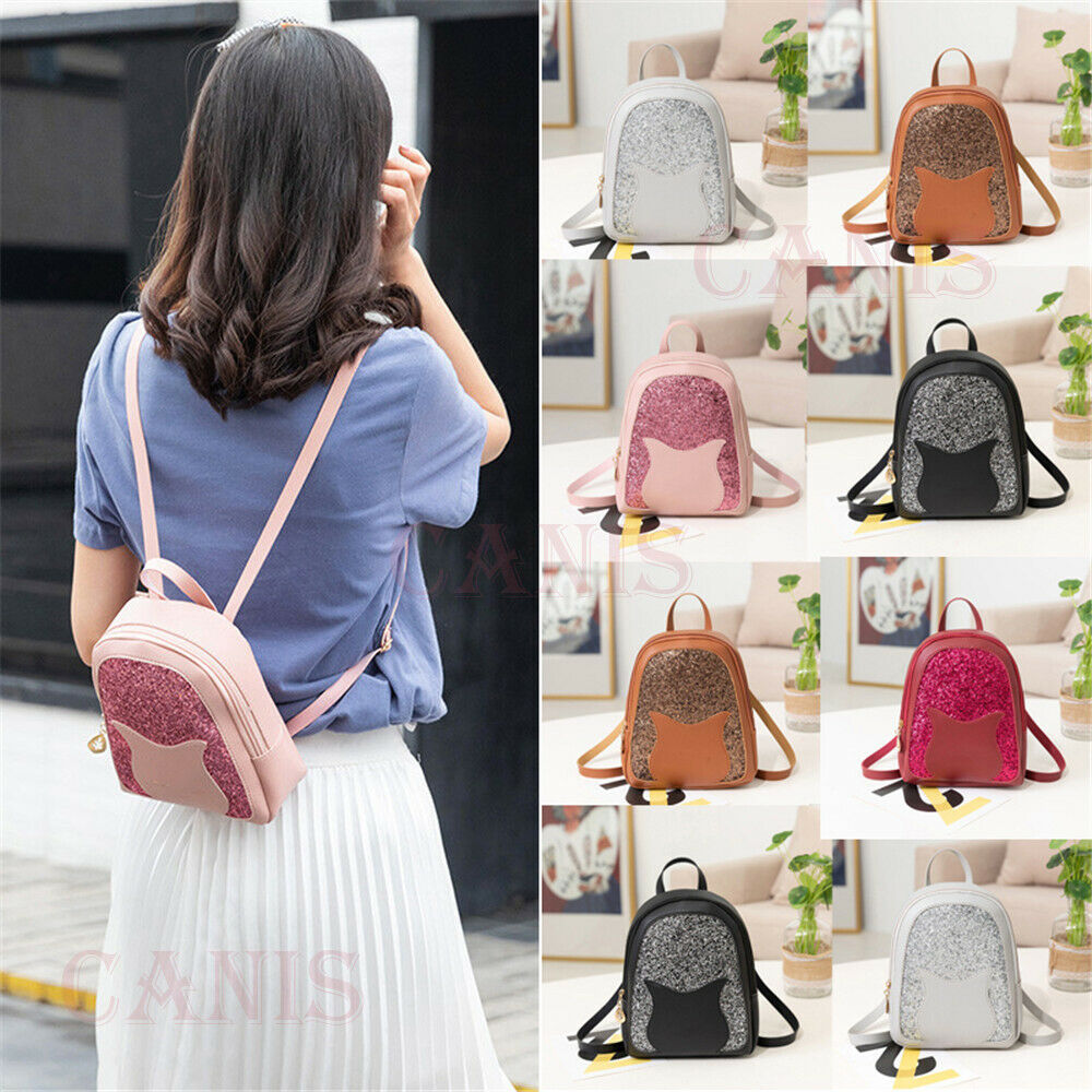 Women Girls Mini Faux Leather Backpack Rucksack School Bag Sequin PU Leather Travel Shoulder Bag Hot SaleWomen Girls Mini Faux Leather Backpack Rucksack School Bag Sequin PU Leather Travel Shoulder Bag Hot Sale