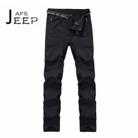 JI PU Professional Design 2017 Autumn New style Mans Quick Dry Long Pant,Mid Waist Waterproof Ventilate Trousers Solid brand