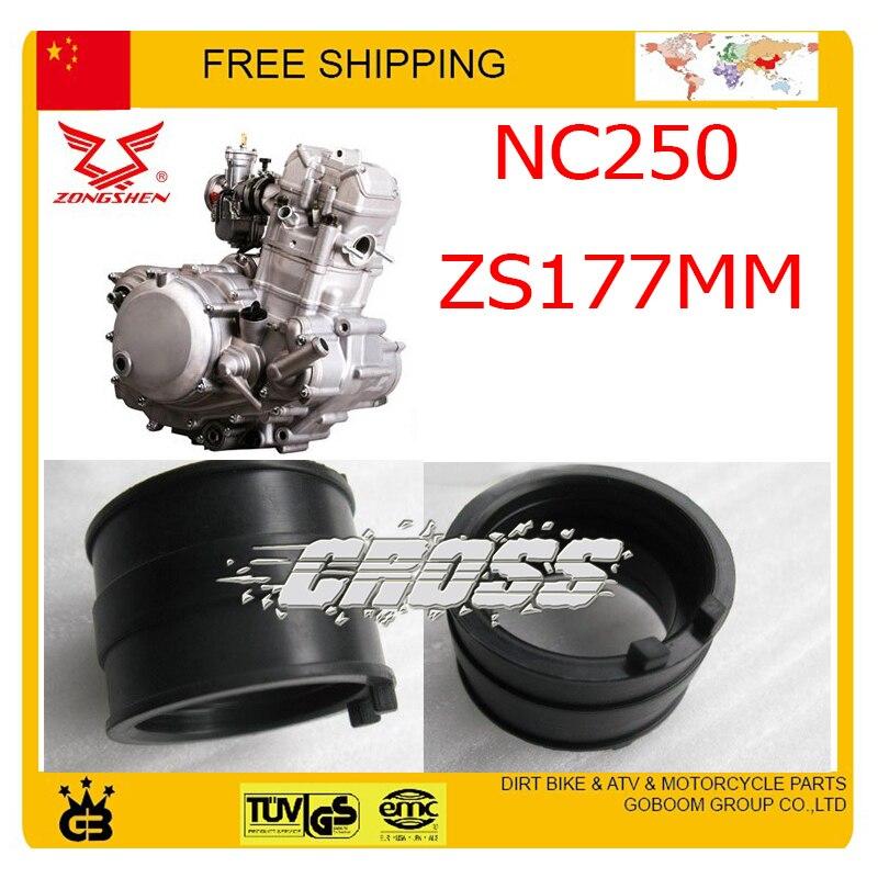 Gummi ansaugrohr verbinden ZONGSHEN NC250 250CC 4 ventil motor xmotos kayo bse T4 T6 dirt pit bike zubehör freies verschiffen