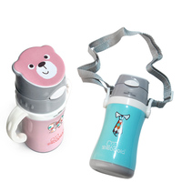 Brand High Quality Baby Feeding Bottle Stainless Steel Kids Water Bottle Training Cup Vacuum Mug Travel Cup