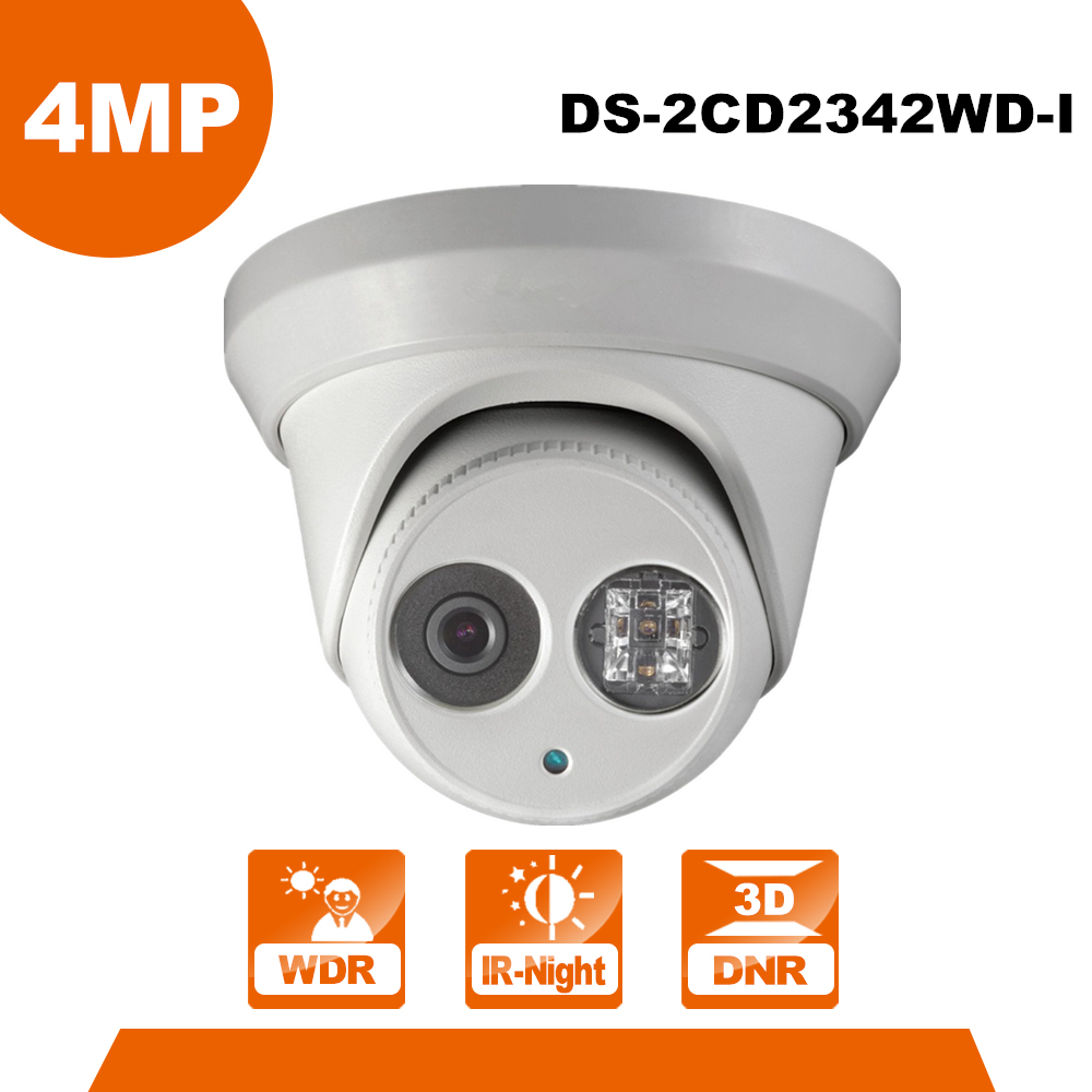 Hik English Version IP Camera DS-2CD2342WD-I replace DS-2CD3345-I 4MP IR Turret Network IP Camera DS-2CD2342WD-I dhl free shipping in stock new arrival english version ds 2cd2142fwd iws 4mp wdr fixed dome with wifi network camera