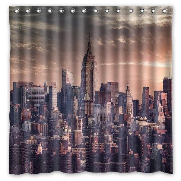 Hoge Kwaliteit Polyester Douchegordijn New York Stad Moderne Ontwerp ...