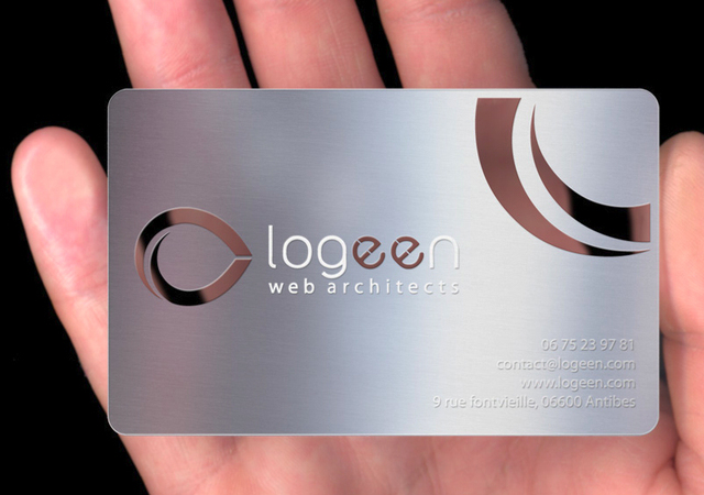 stainless steel exclusive silver metal card business card silver cards fancy cards - Fancy Business Cards