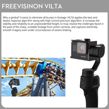 FreeVisinon VILTA Handheld 3-Axis Gimbal Portable Stabilizer for Smartphone iPhone 7 Plus 6 S7 Vertical Shooting Free Shipping