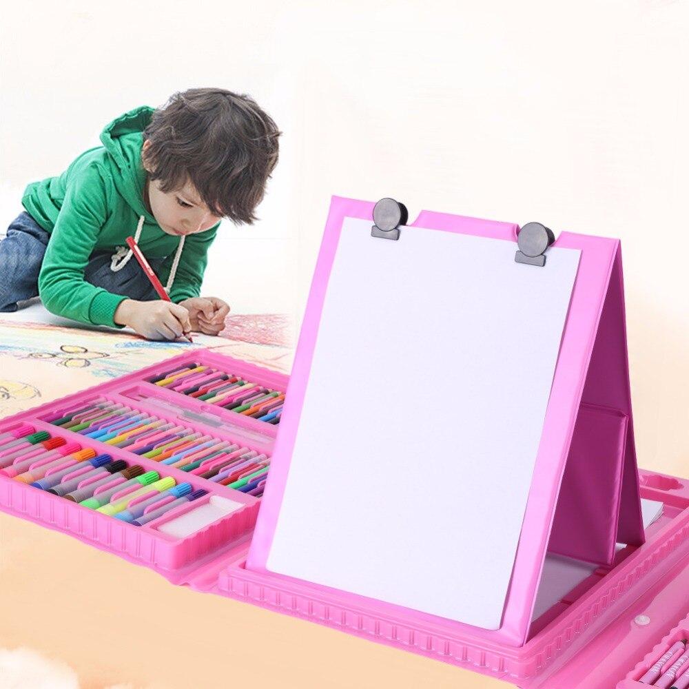 Art Sets 208pcs/lots Children Colors Pencil Drawing Artist Kit Painting Art Marker Pen Set Color Pen Paint Brush Drawing Tool Art Set Painting Supplies