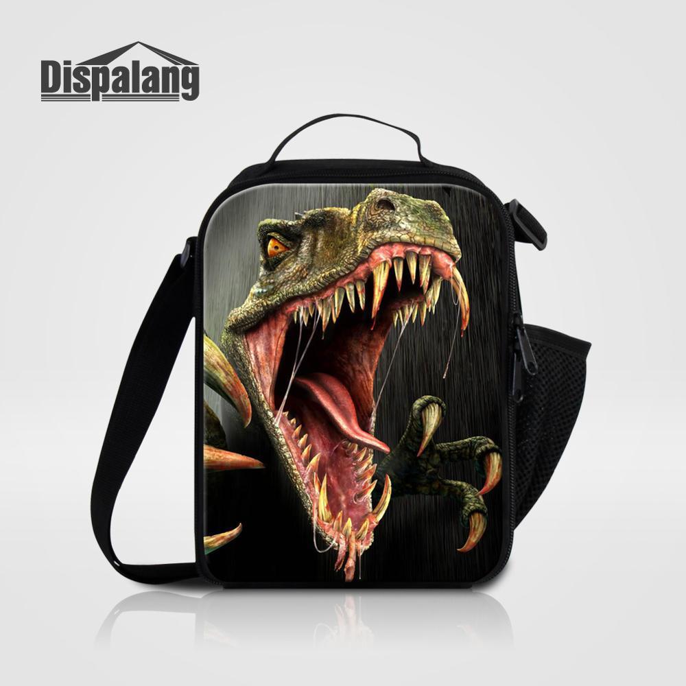 Мужские Термо-холщовые сумки для ланча, лисы, волка, динозавра, змеи, для мальчиков, сумка-холодильник для еды, пикника, Детская маленькая сумка-Ланч-бокс на молнии для школы - Цвет: Lunch Bag14