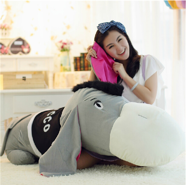 huge new lovely plush donkey toy big stuffed cute gray donkey gift doll about 140cm 0359 140cm donkey doll donkey plush toy good as a gift soft stuffed toy page 9