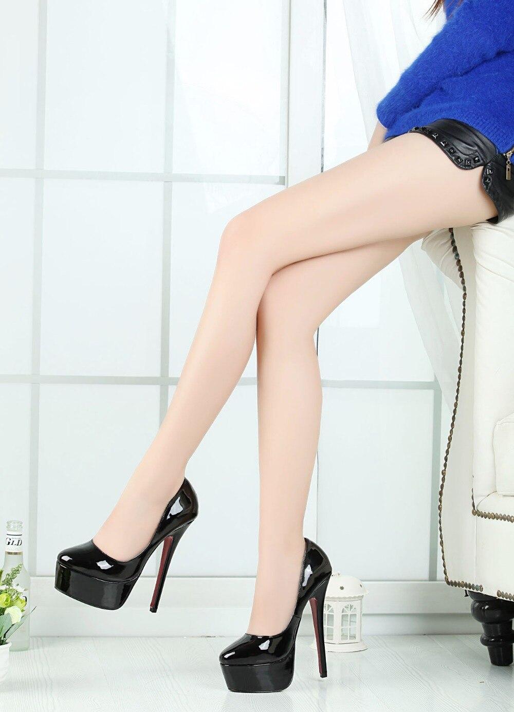 83645b5c73 Crossdresser Sexy Stiletto Plus:40-47 48 Padlock zapatos mujer Pointed Toe  Ankle Strap shoes woman 12cm metal thin heels PumpsUSD 42.48/pair