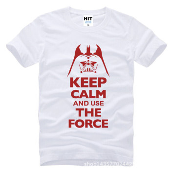 Keep Calm and Use The Force Print STAR WARS Movie T Shirt Tshirt Mens Men Fashion 2016 Cotton T-shirt Tee Shirt Homme 10