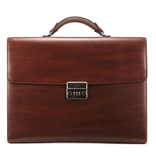 teemzone Men s Genuine Leather High end Business Briefcase Messenger 14 Laptop Case Attache Bag Attache