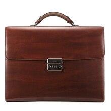 teemzone – Men's Genuine Leather High-end Business Briefcase Messenger 14″Laptop Case Attache Bag Attache Portfolio Tote T1016