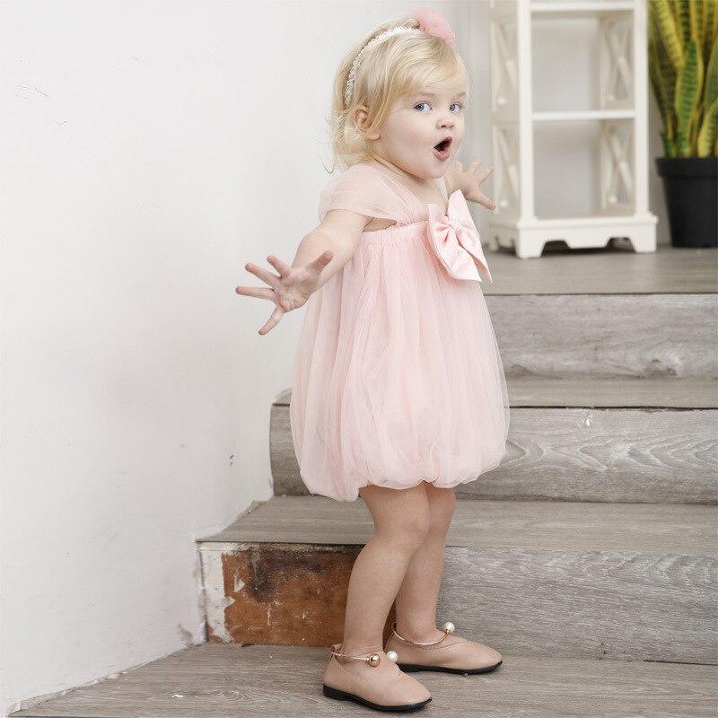 Yoyoxiu 2018 zomer baby meisje jurk roze schattige baby jurk net - Babykleding - Foto 2