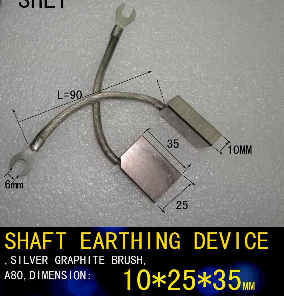 SHAFT EARTHING DEVICE,SILVER GRAPHITE BRUSH,A80,DIMENSION:W-25MM X L-35MM,THICKNESS-10MMSHAFT EARTHING DEVICE,SILVER GRAPHITE BRUSH,A80,DIMENSION:W-25MM X L-35MM,THICKNESS-10MM