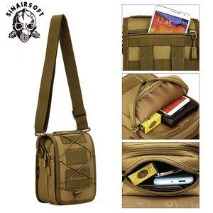 SINAIRSOFT Военная тактическая сумка-мессенджер на плечо нейлоновая спортивная сумка для рыбалки на открытом воздухе для кемпинга многофункцио...
