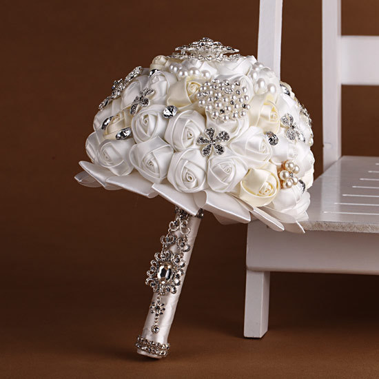 wedding bouquet holders for silk flowers aliexpress buy custom 100 handmade pearl 8462