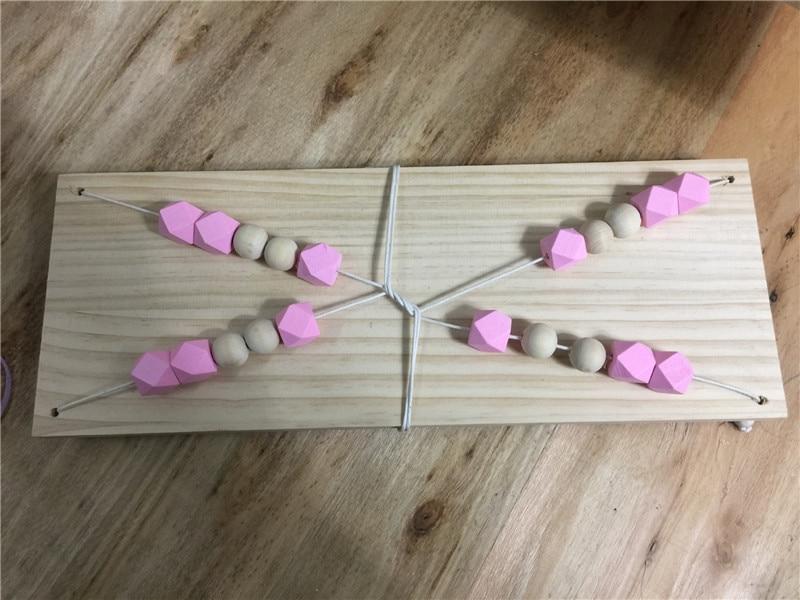 Wandplank wandplank ornament fotos : Online Shop Kids Nordic Stijl DIY Originele Houten Kralen ...