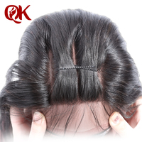QueenKing Hair Brazilian Silky Straight Lace Closure 3 Part 5X5 Remy Hair Closure Natural Color French
