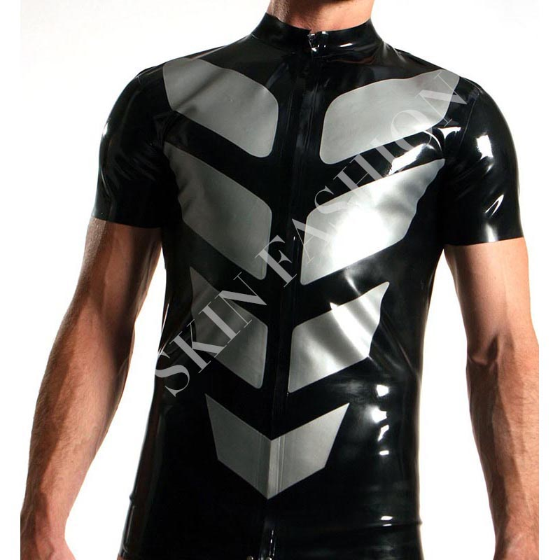 Free shipping New arrival men fashion latex t shirts not including shorts