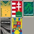 Australia Hungary Ireland New Zealand Romania Quick Dry Beach Travel Towel Microfiber Towel rugby Sport Swimming Gym Towel