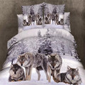 Medusa 3d wolf king/queen/twin size 3/4 unids juego de cama de edredón/doona funda de cama funda de almohada conjunto de ropa de cama