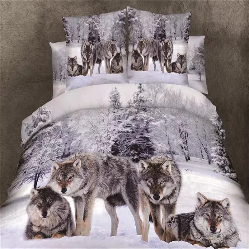 Medusa 3d wolf king/queen/twin size 3/4pcs bedding set of duvet/doona cover bed sheet pillow cases bed linen set