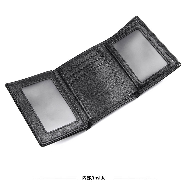 Leather RFID Black Wallet for Men Money Wallets Man Mini Brand Real Leather RFID Wallet ID Card Holder Male Short Wallets in Wallets from Luggage Bags