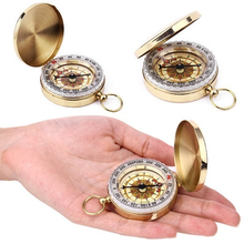 Portable Outdoor Pocket Watch Camping Compass Hiking Pocket Watch Retro Flip Compass