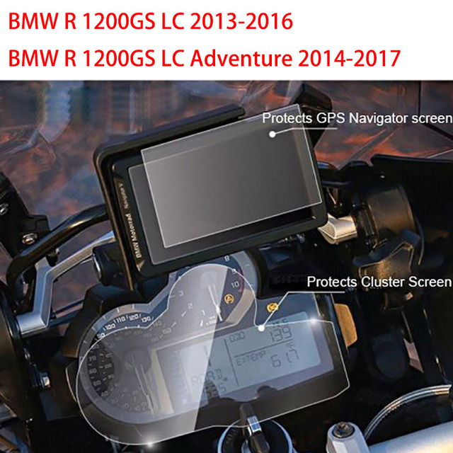 Motorcycle Dashboard Protector + GPS Navigator Protective Film Screen for BMW R1200GS LC / Adventure / ADV R1200 / R 1200 GS