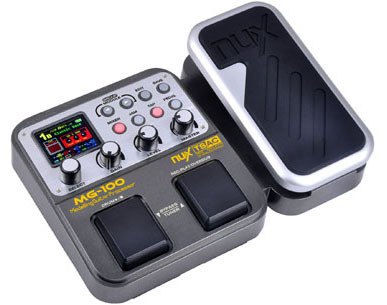 NUX MG100 Electric Guitar DSP Multi Effects Pedal 58 Effects 6-band graphic EQ Built-in drum machine 72 presets EFX 2