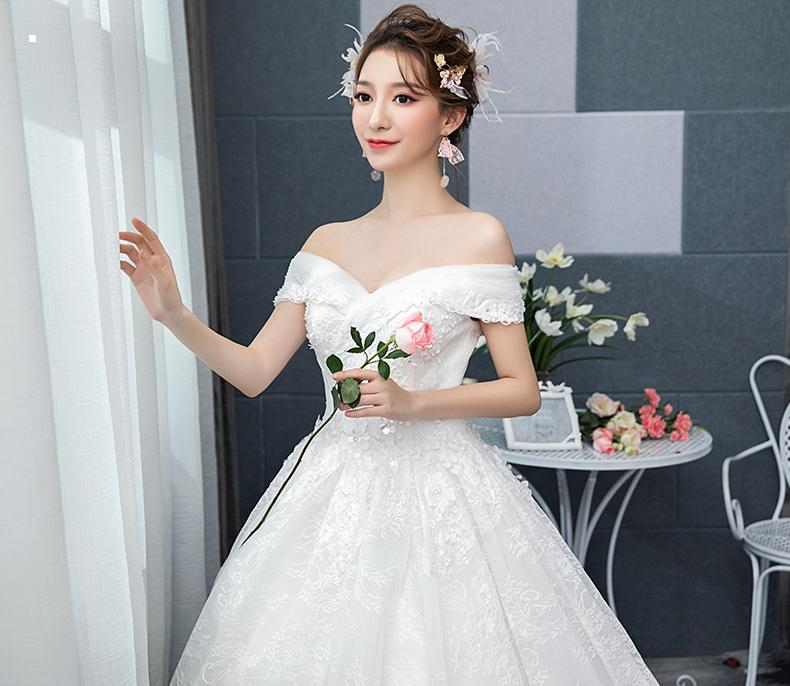VENSANAC V Neck Ball Gown 2018 Lace Flowers Appliques Wedding Dresses Sequined Short Sleeve Backless Bridal Gowns in Wedding Dresses from Weddings Events