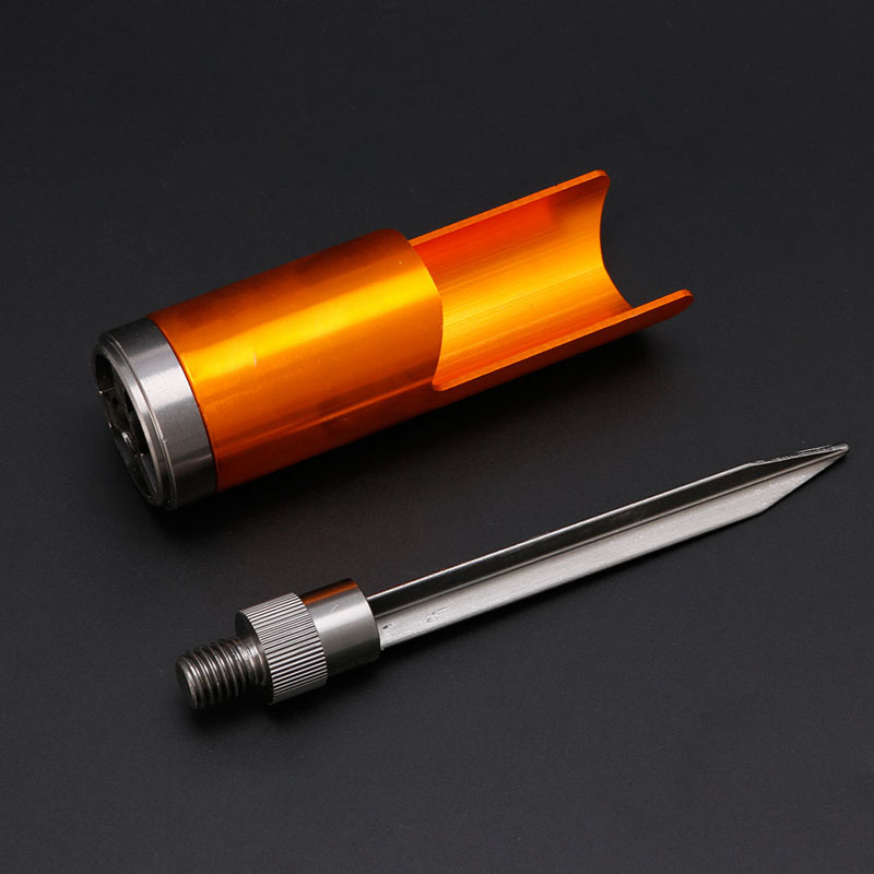 Aluminum alloy fishing rod pole ground holder support for Ground fishing rod holders