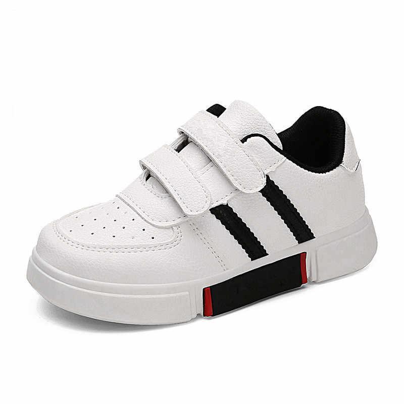 2018 primavera otoño nuevos niños Color a juego zapatillas de deporte escolares moda Simple plana niños zapatos niños y niñas zapatos Casuales