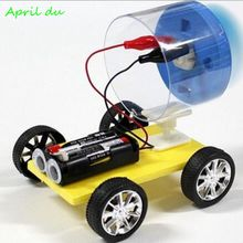 April Du DIY invent technology aerodynamic car Universal wind racing puzzle assembling scientific experiment Educational Toy