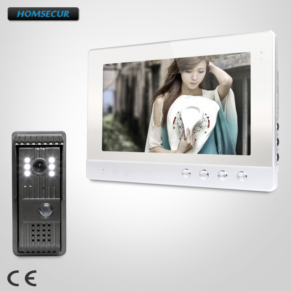 HOMSECUR 10.1 Wired Video Door Phone Intercom System with Intra-monitor Audio Intercom:  XC003+XM101-SHOMSECUR 10.1 Wired Video Door Phone Intercom System with Intra-monitor Audio Intercom:  XC003+XM101-S