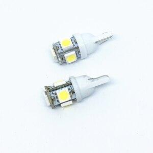 100X T10 LED W5W 5050 Лампа 5 SMD LED белый синий красный желтый зеленый 194 168 супер яркие клиновидные лампы 12V