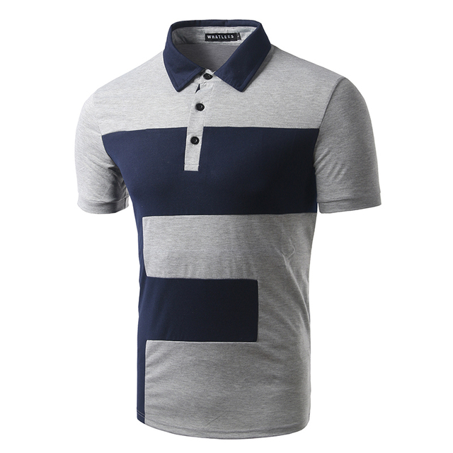 New Arrival Men Casual Patch work Design Polo Shirt Short Sleeve Male Fashion Slim fit Polo High Quality Summer Wear Polo