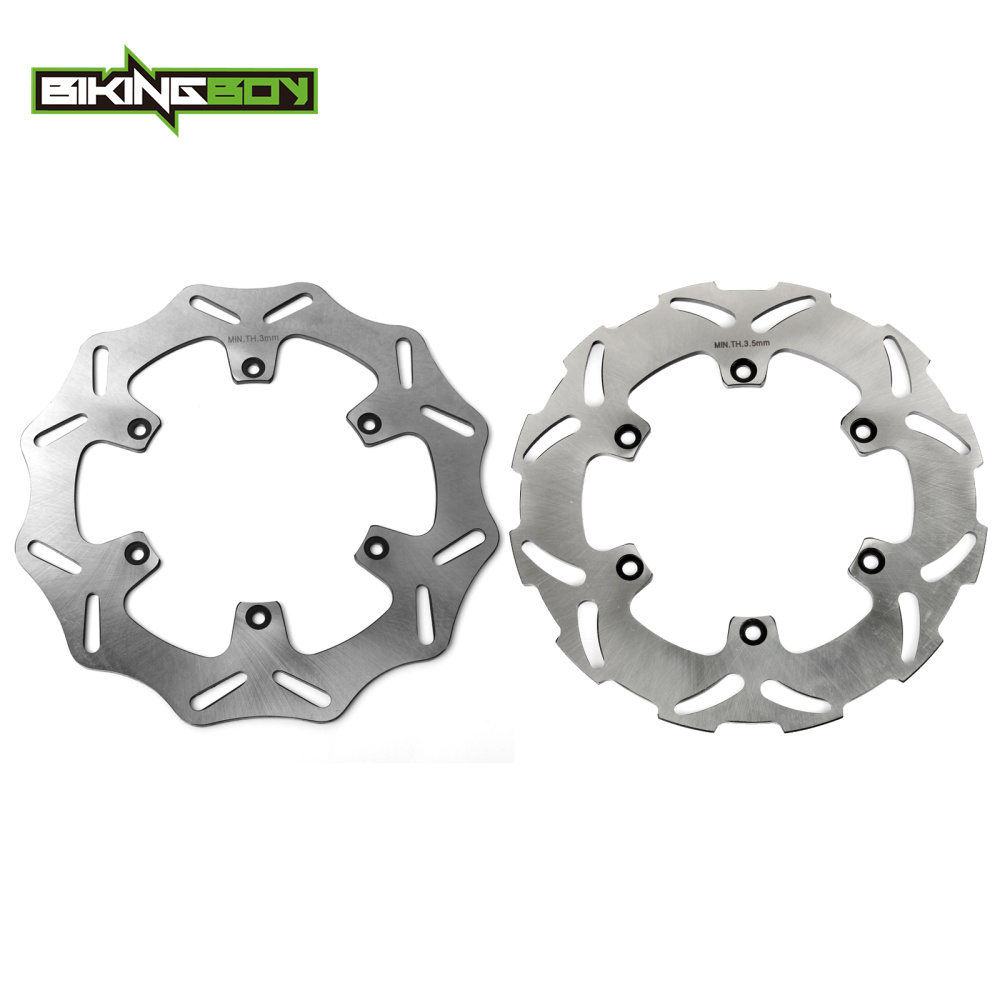 BIKINGBOY Front Rear Brake Discs Rotors For KTM 125 250 350 GS 125 200 250 300 350 380 400 450 500 520 525 EXC 260mm 218.5mm