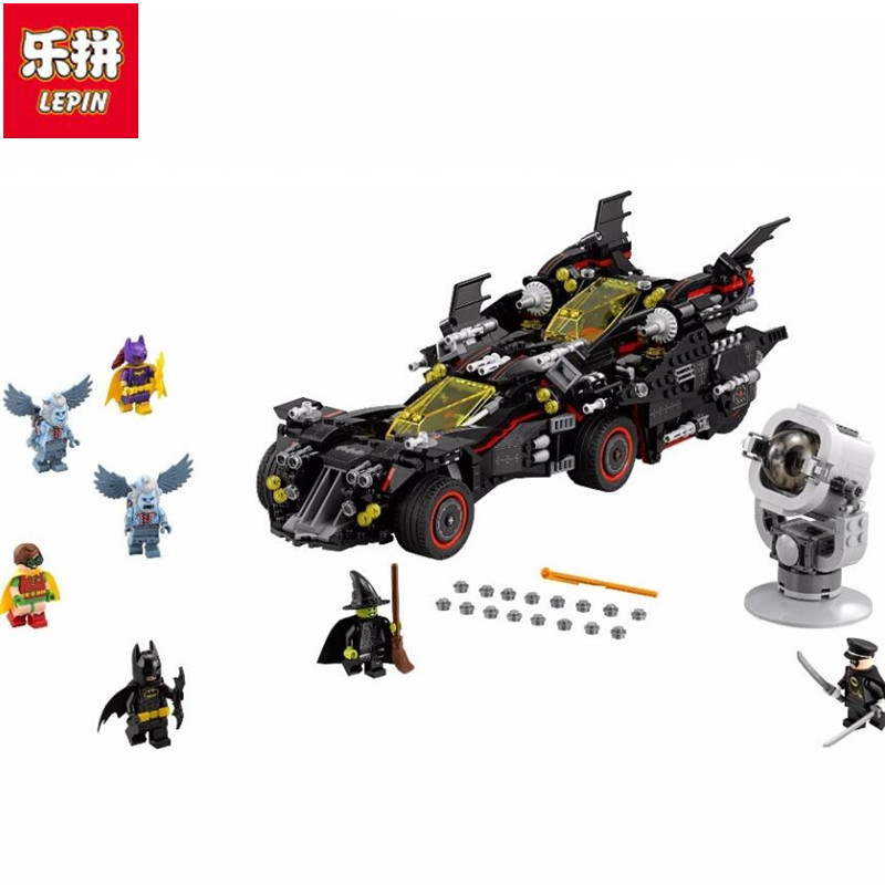 Lepin 2017 07077 Marvel's The Avengers Super heroes The Ultimate Batmobile Batman Block Toys Compatible Batman Movie legoe batman 07077 marvel super heroes genuine movie the ultimate batmobile building blocks bricks toys compatible legoing 70917