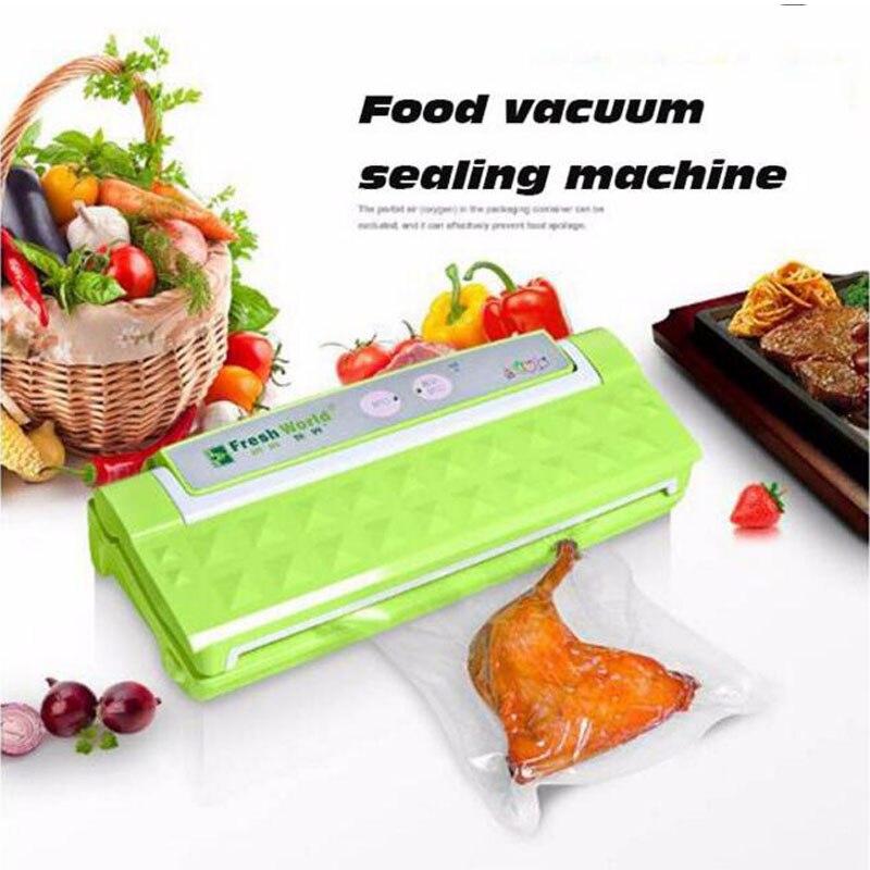 1pc Multi-Function Vacuum Film Sealing Machine Fully Automatic Household Vacuum Food Sealer cukyi household electric multi function cooker 220v stainless steel colorful stew cook steam machine 5 in 1
