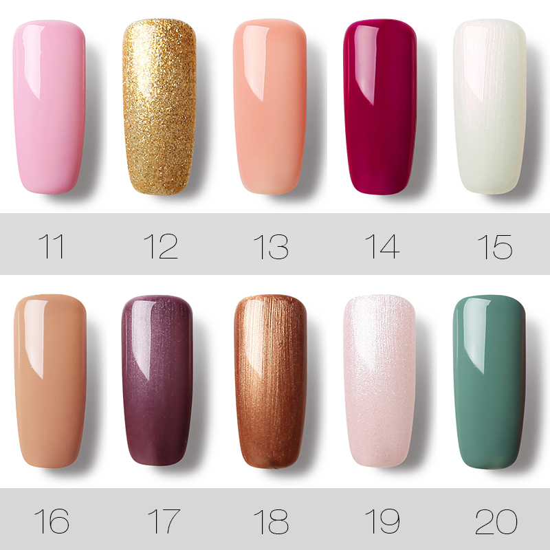 (12PCS/SET)ROSALIND Gel Nail Polish Gel Polish Semi Permanent UV Enamel Hybrid Nail Art Off Varnish White Manicure Nails