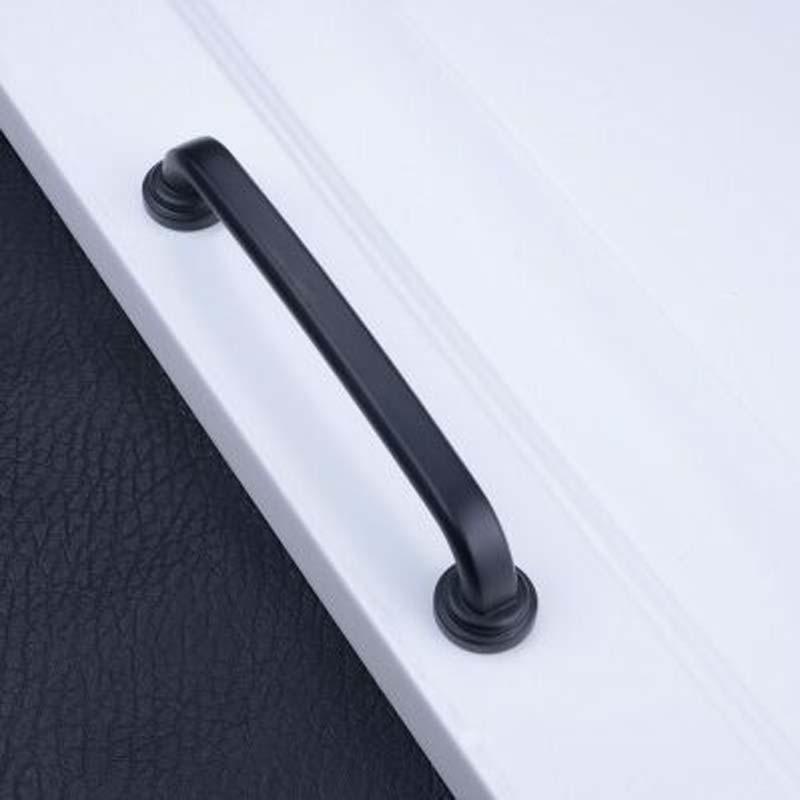 rustico vintage black furniture hardware handle black kitchen cabinet wardrobe handle 128mm black dresser cupboard pull 5 pulls салатник rustico малый 1179930